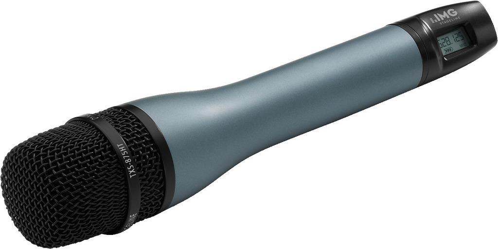 IMG STAGELINE TXS-875HT Handmikrofon mit integriertem Multi-Frequenz-Sender, 518-542 MHz