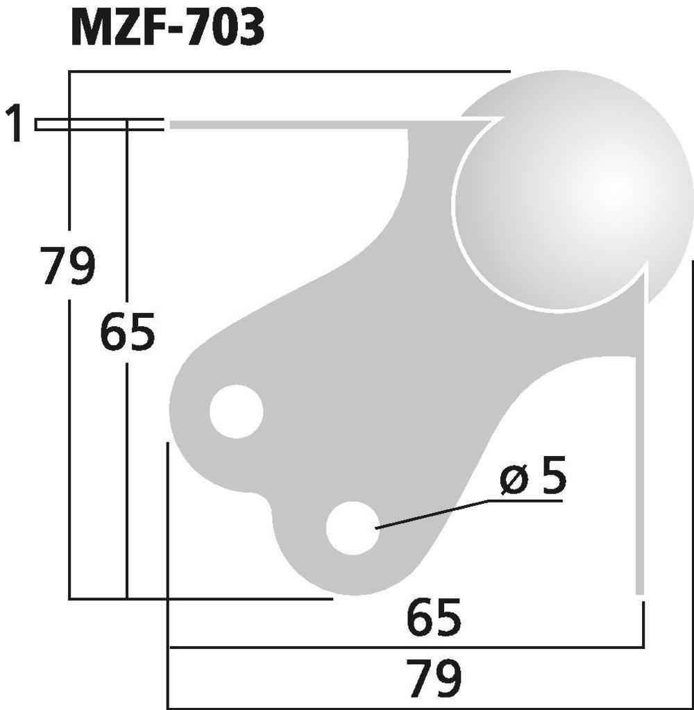 MONACOR MZF-703 LS-Metallecke