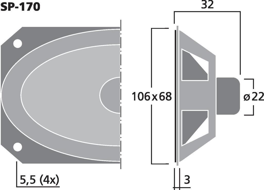 MONACOR SP-170 Miniatur-Lautsprecher, 1 W, 8 Ω
