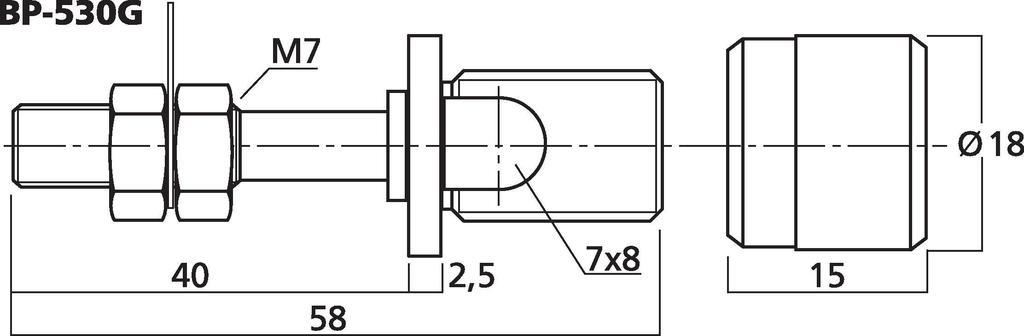 MONACOR BP-530G High-End-LS-Polklemmen-Paar