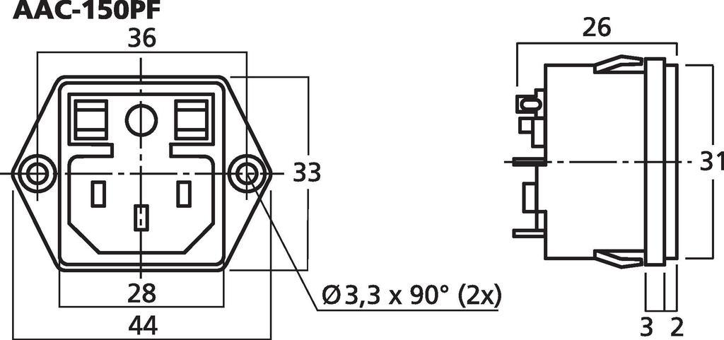 MONACOR AAC-150PF Einbaustecker