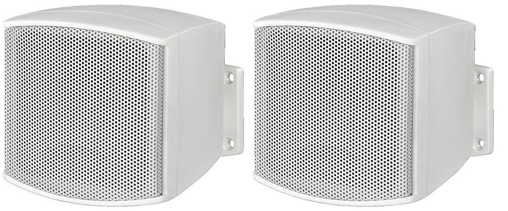 MONACOR EUL-26/WS ELA-Miniatur-Lautsprecherboxen-Paar