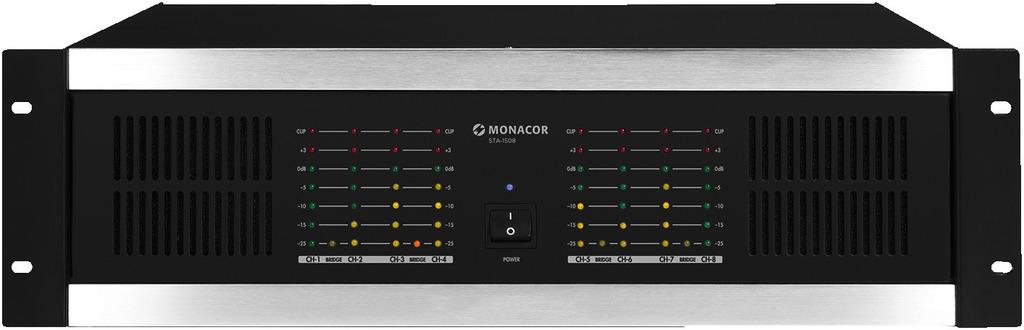 MONACOR STA-1508 8-Kanal-PA-Verstärker, 1280 W