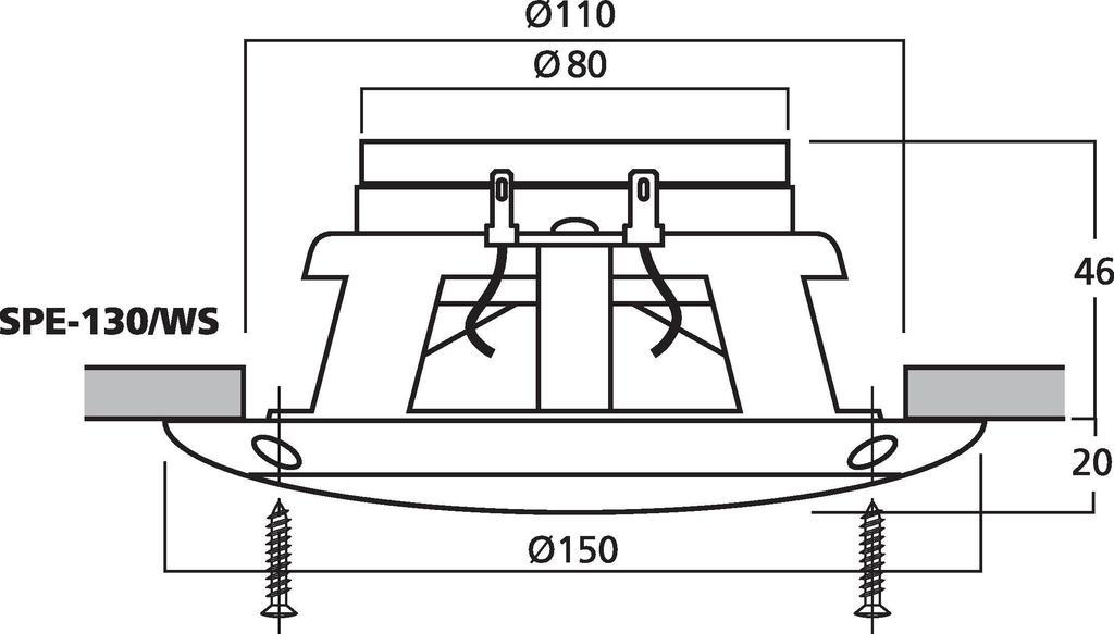 MONACOR SPE-130/WS Einbaulautsprecher-Paar