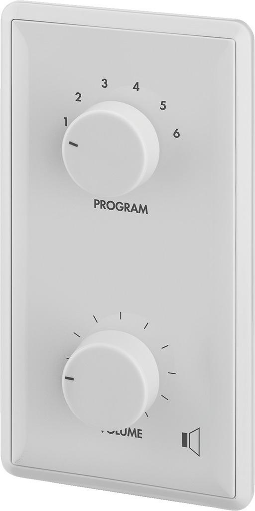 MONACOR ATT-412PEU ELA-Einbau-Lautstärkesteller mit Programmwähler und 24-V-Pflichtempfangsrelais, 12 W