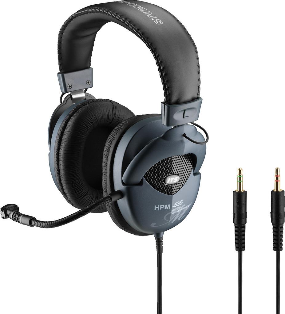 JTS HPM-535 Professioneller Stereo-Kopfhörer mit Elektret-Bügelmikrofon