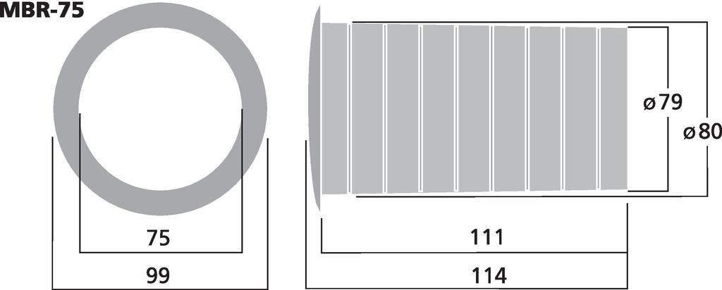 MONACOR MBR-75 Bassreflexrohr SV=44,2 cm2