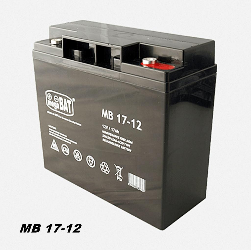 MegaBAT MB-17-12  AGM USV Batterie 12V 17Ah