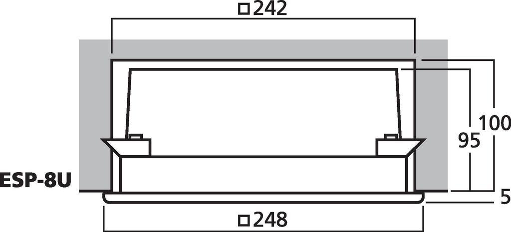 MONACOR ESP-8U ELA-Wand- und Deckenlautsprecher zur Unterputzmontage