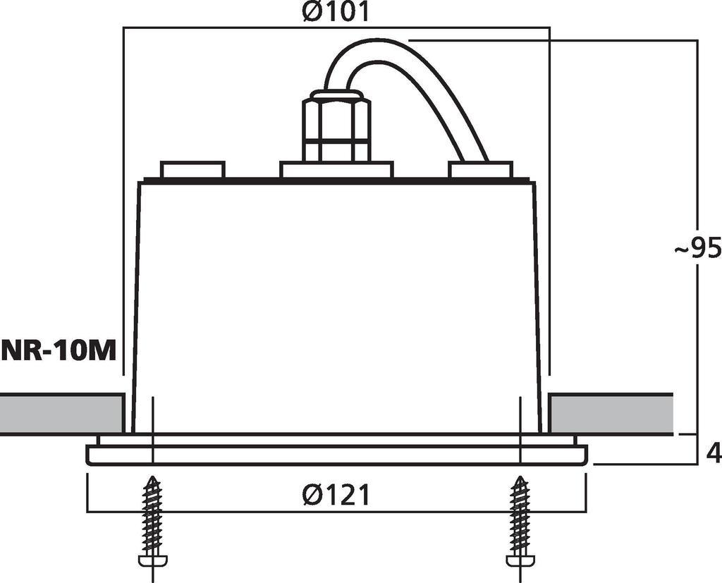 MONACOR NR-10M Einbau-Druckkammerlautsprecher (Musikhorn) mit Breitbandlautsprecher, 4 Ω
