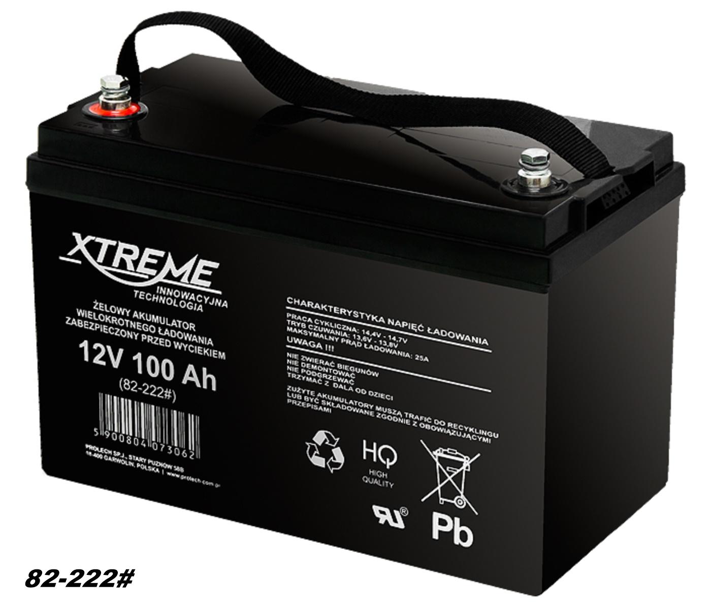AGM-Batterie 12V 100Ah  von XTREME – Markenware