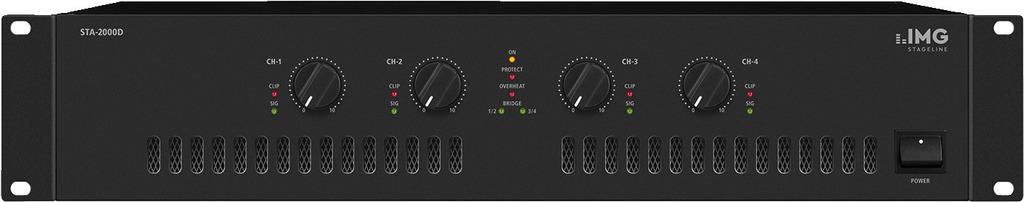 IMG STAGELINE STA-2000D 4-Kanal-PA-Class-D-Verstärker, 2400 W