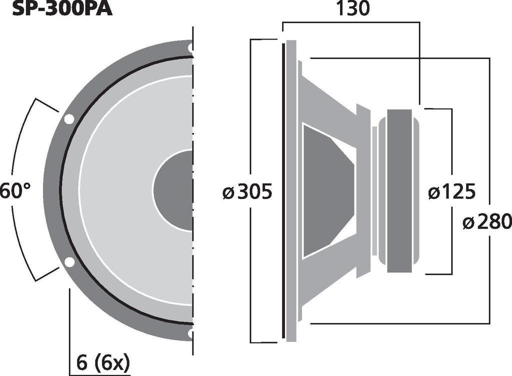 MONACOR SP-300PA PA- und Power-Tieftöner, 175 W, 8 Ω