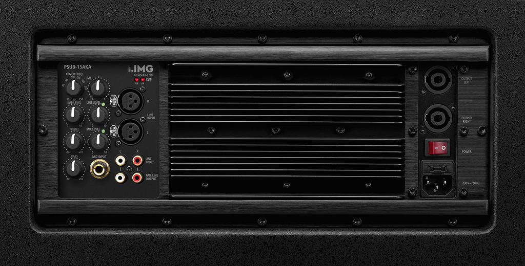 IMG STAGELINE PSUB-15AKA Aktiver 2.1-PA-Subwoofer, 1200 W