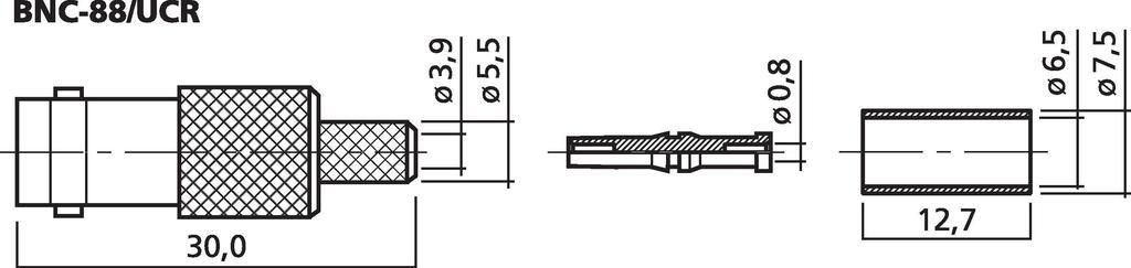 MONACOR BNC-88/UCR BNC-Crimpkupplung