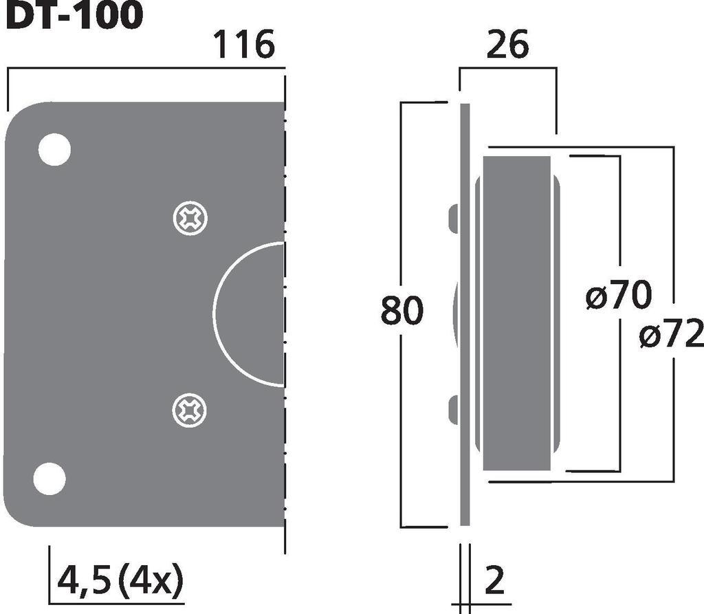 MONACOR DT-100 Hi-Fi-Kalottenhochtöner, 30 W, 8 Ω
