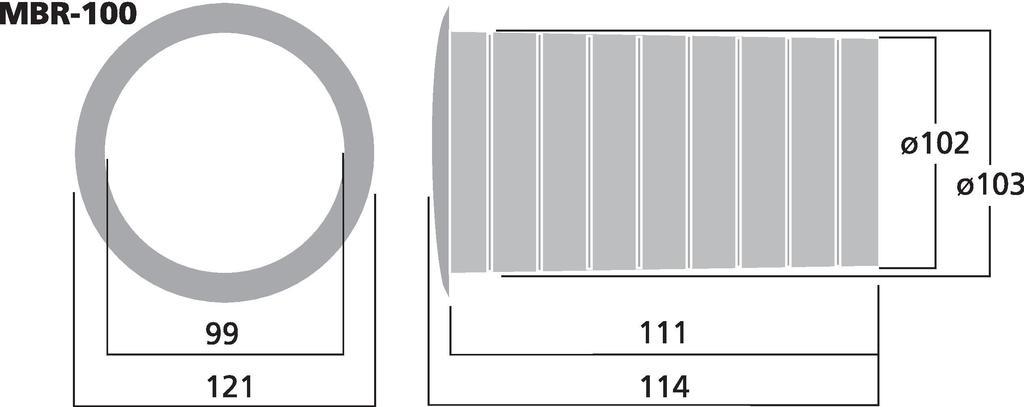MONACOR MBR-100 Bassreflexrohr SV=77 cm2