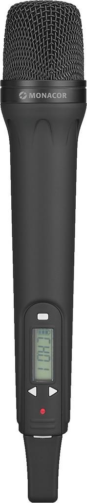 MONACOR TXA-800HT Handmikrofon mit integriertem Multi-Frequenz-Sender, 863,1-864,9 MHz
