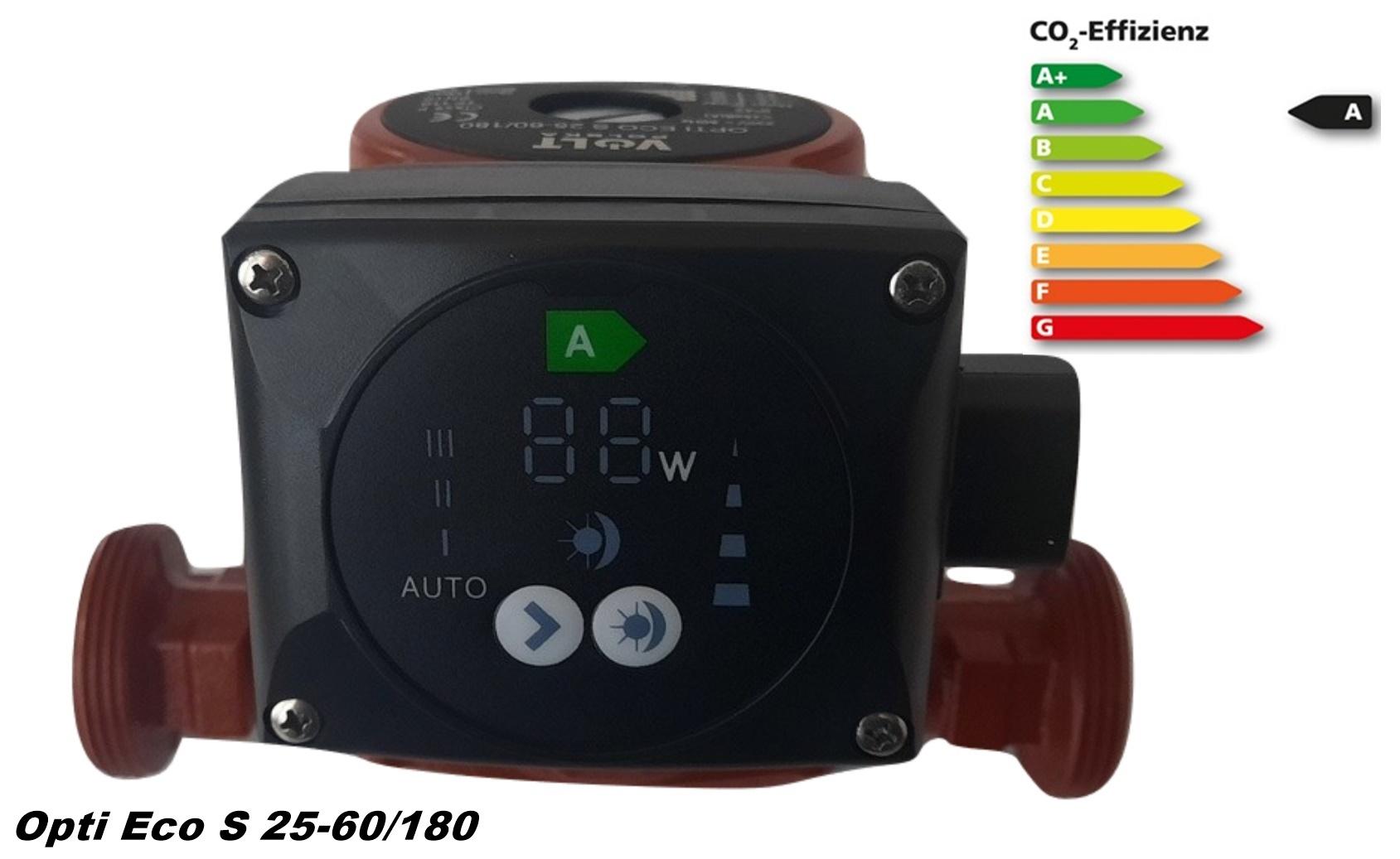 Opti ECO S 25-60/180 Hocheffiziente Zirkulationspumpe Umwälzpumpe Heizungspumpe