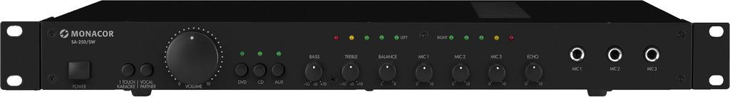 MONACOR SA-250/SW Universal-Stereo-Mischverstärker, 100 W