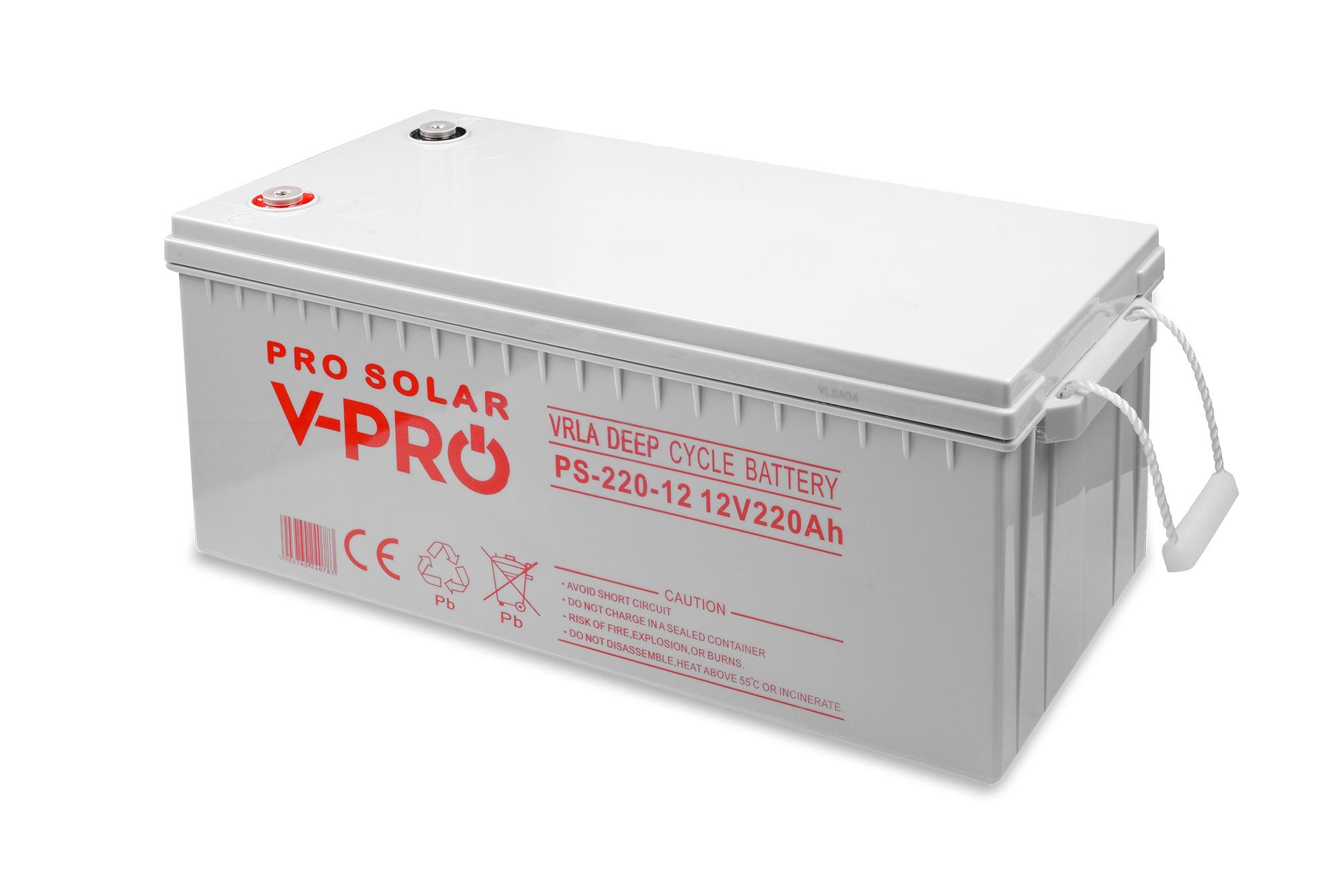AGM Deep Cycle Batterie 12V ProSolar 220Ah(C10) Wohnmobil Solar Elektrofahrzeuge Traktionsbatterie