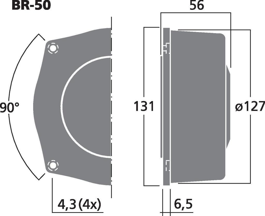 MONACOR BR-50 Bass-Vibrationserzeuger, 50 W, 4 Ω