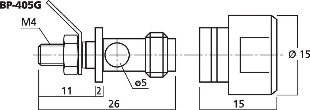 MONACOR BP-405G LS-Polklemmen-Paar