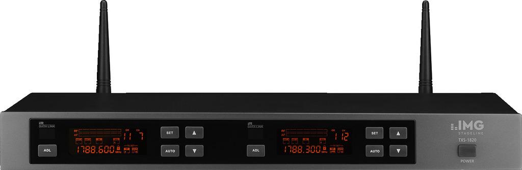 IMG STAGELINE TXS-1820 2-Kanal-Multi-Frequenz-Empfängereinheit, 1,8 GHz