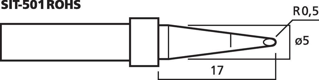 MONACOR SIT-501ROHS Hochwertige Lötspitze