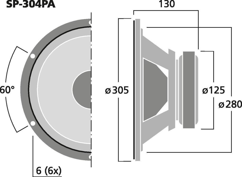 MONACOR SP-304PA PA- und Power-Tieftöner, 175 W, 4 Ω