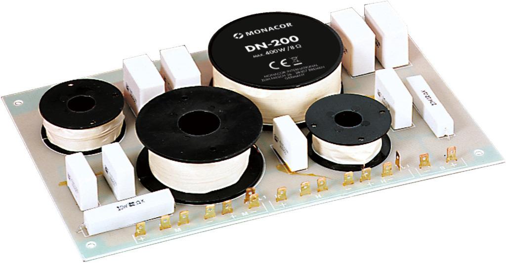MONACOR DN-200 3-Wege-Weiche für 8 Ω
