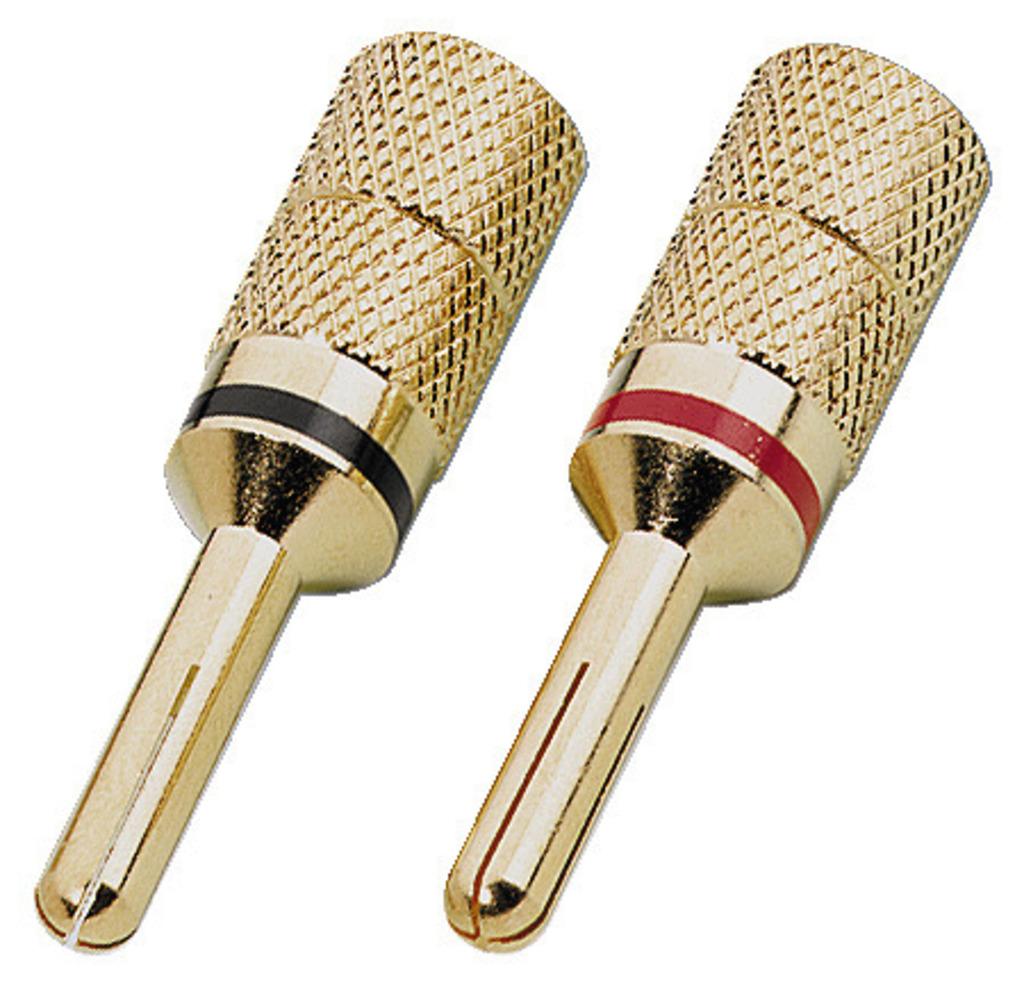 MONACOR SPC-425/B LS-Bananenstecker-Paar, 4 mm