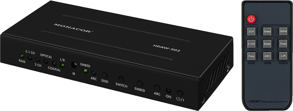 MONACOR HDAW-203 HDMI™-Audiosignal-Weiche