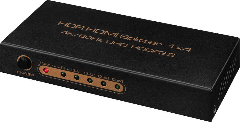 MONACOR HDMS-1044K 4-fach-HDMI™-Splitter