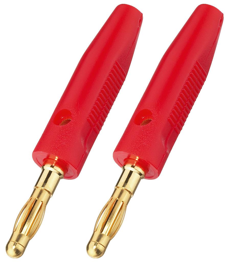 MONACOR BP-30G/RT LS-Bananensteckerpaar, 4 mm