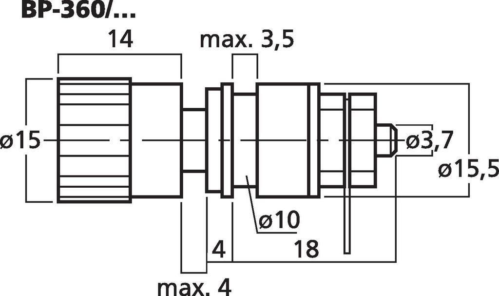 MONACOR BP-360/RT LS-Apparate-Klemme