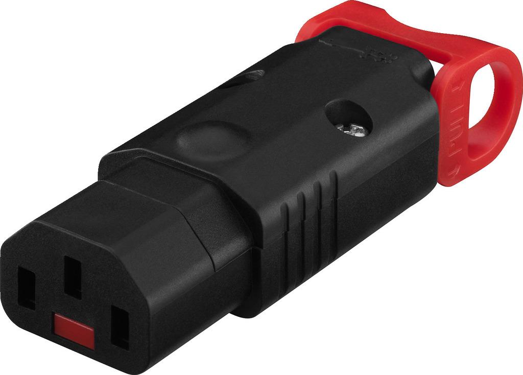 MONACOR AAC-170J/IEC Kaltgerätekupplung, IEC-Lock, Schutzkontakt