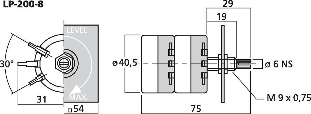 MONACOR LP-200-8 L-Regler, stereo
