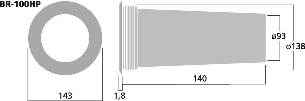 MONACOR BR-100HP Bassreflexrohr SV=69,4 cm2
