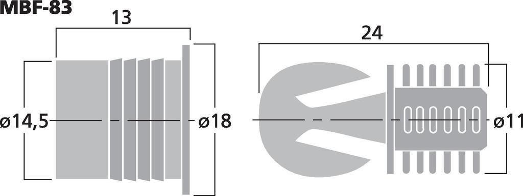 MONACOR MBF-83 LS-Rahmendübel-Set