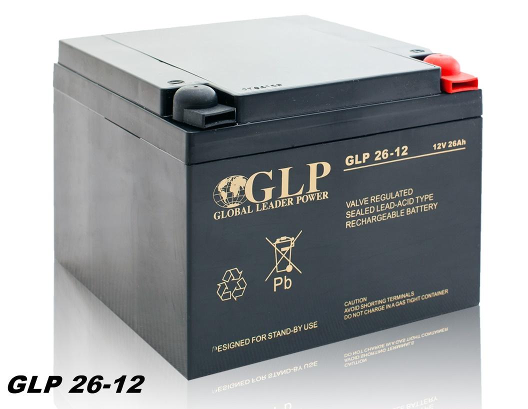GLP AGM GEL Deep Cycle Akku VRLA 12V 26Ah