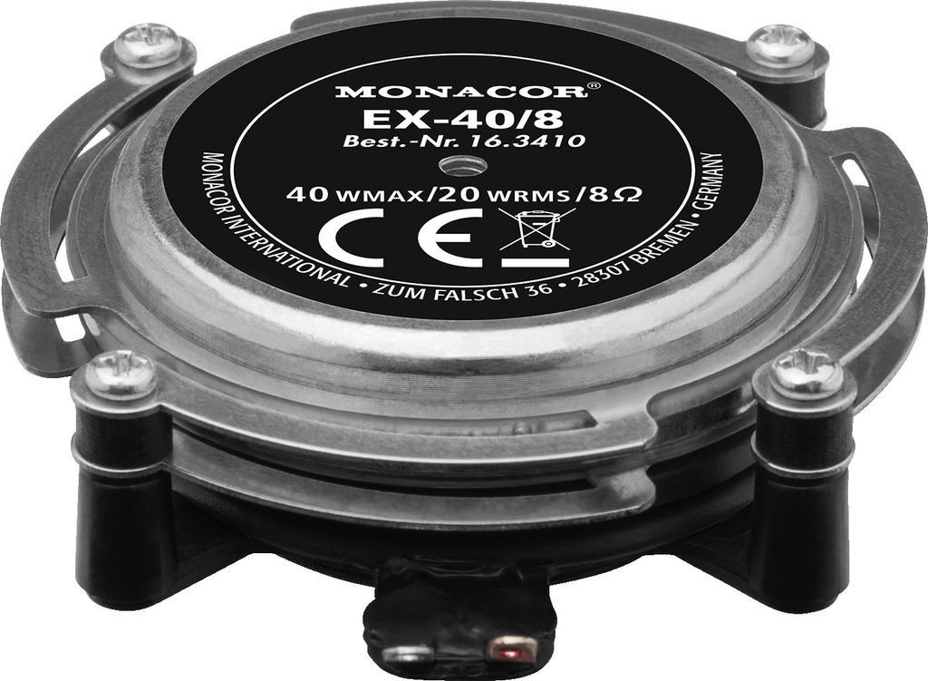 MONACOR EX-40/8 Audio-Exciter/Resonator, 20 W, 8 Ω