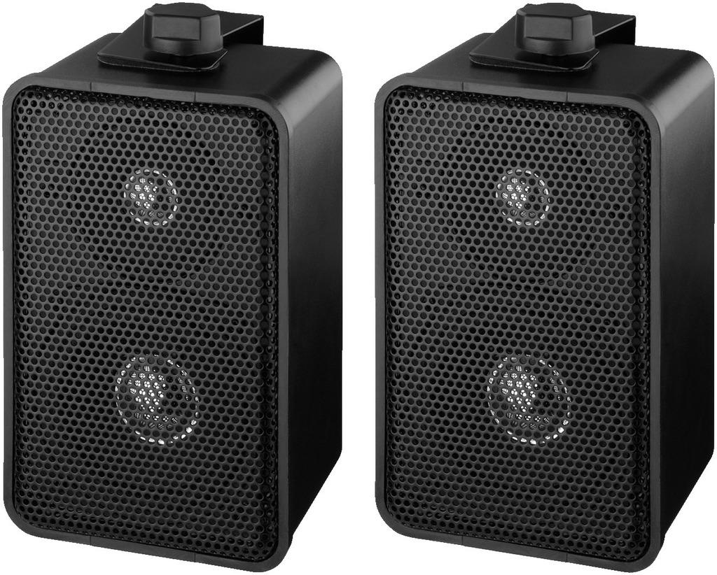 MONACOR MKS-42/SW Universal-2-Wege-Boxenpaar, 20 W, 4 Ω