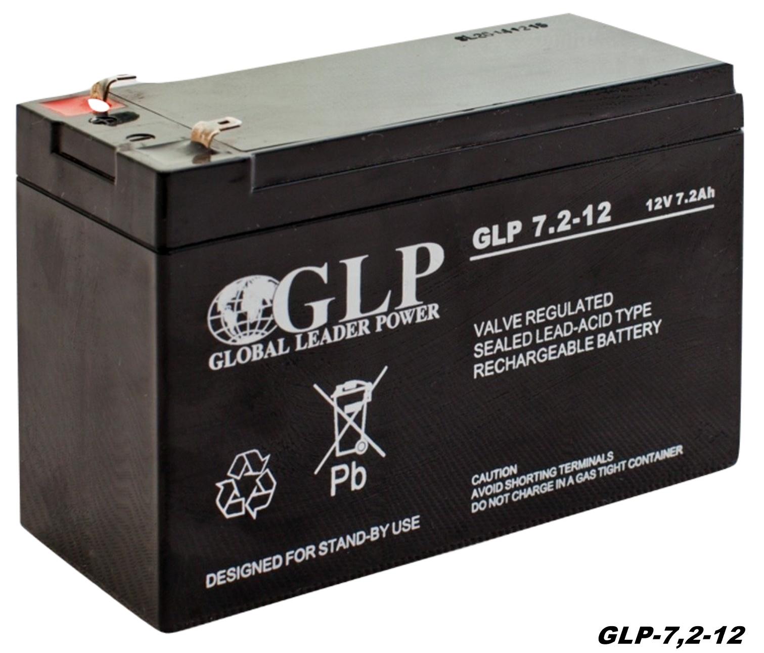 GLP AGM GEL Deep Cycle Akku VRLA 12V 7,2Ah