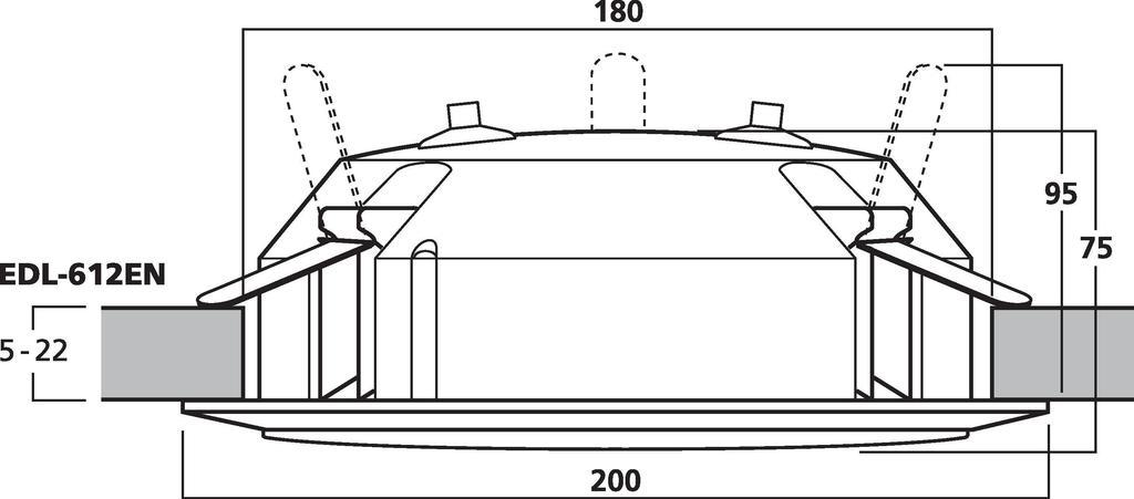 MONACOR EDL-612EN ELA-Deckenlautsprecher