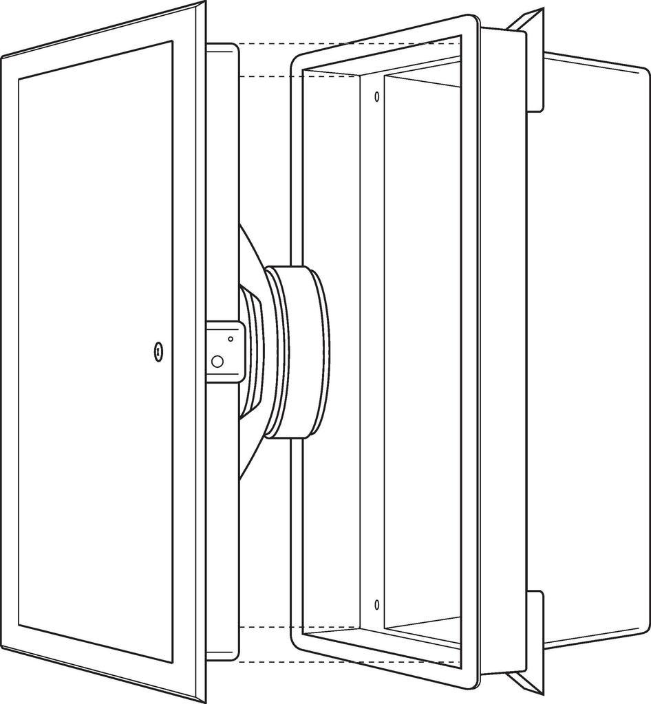 MONACOR ESP-5U ELA-Wand- und -Deckenlautsprecher zur Unterputzmontage