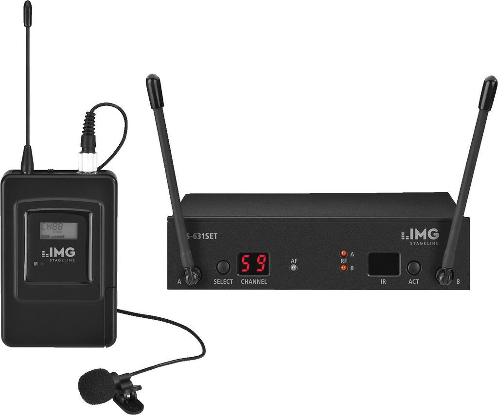 IMG STAGELINE TXS-631SET Multi-Frequenz-Mikrofonsystem, 863-865 MHz
