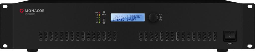 MONACOR STA-1000DSP Stereo-PA-Class-D-Verstärker, 1000 W