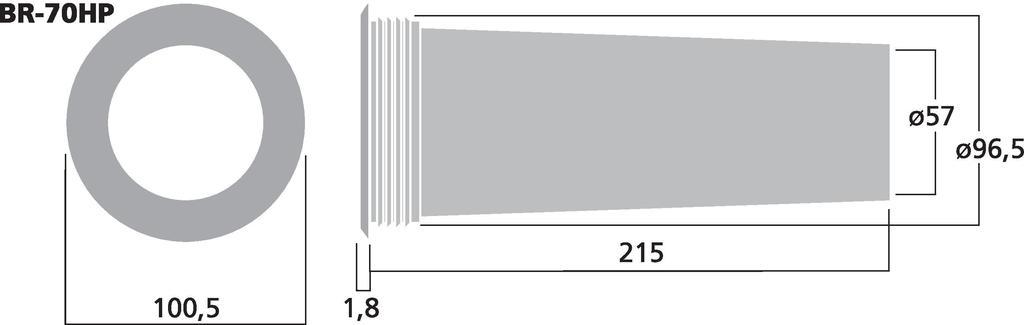 MONACOR BR-70HP Bassreflexrohr SV=26,4 cm2