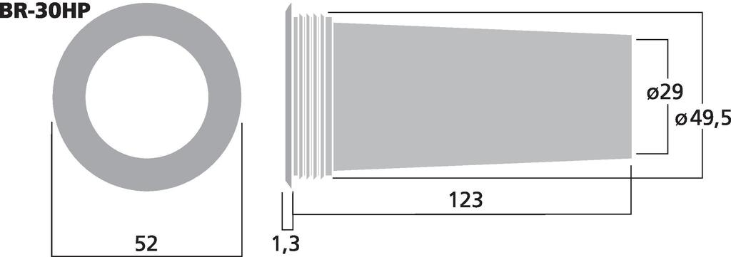 MONACOR BR-30HP Bassreflexrohr SV=6,6 cm2